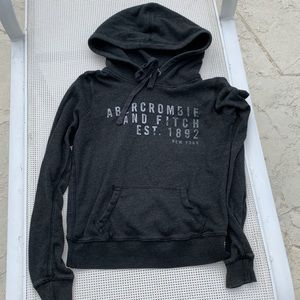Abercrombie & Fitch charcoal Gray Hoody